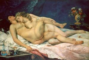 COURBET,GUSTAVE - Le sommeil