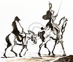 DAUMIER,HONORE - Don Quixote