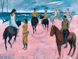 GAUGUIN,PAUL - Reiter am Strand