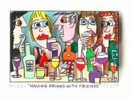 James Rizzi-Having drinks with friends